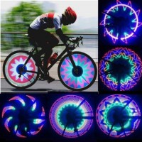 Colorful Bicycle Lights Cycling Wheel Spoke Light 32 LED 32 Pattern Waterproof