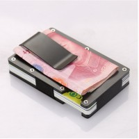 Slim Front Pocket Wallet & Money Clip Minimalist Wallet RFID Blocking