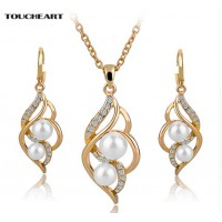 Pearl Necklaces And Earring Jewelry Set