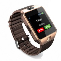 Gold Bluetooth Smart Watch GSM SIM for Samsung LG iOS Android iPhone Mate, DZO9
